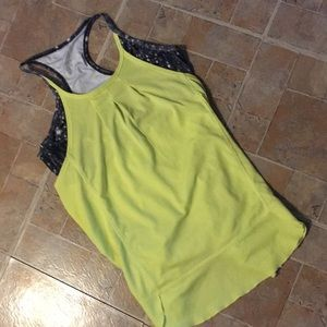 MPG tank top with attached bra size women's medium
